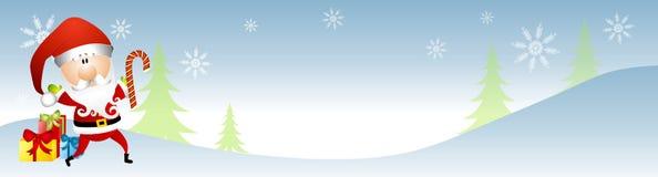 Bandera del invierno de Papá Noel Fotos de archivo libres de regalías