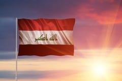 Bandera del Iraq Imagenes de archivo