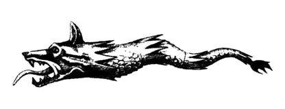 bandera del lobo del dacia Fotografía de archivo