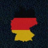 Bandera del mapa de Alemania en el ejemplo del código del maleficio ilustración del vector
