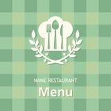 Bandera del menú Fotografía de archivo libre de regalías