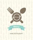 Bandera del menú Imagen de archivo libre de regalías