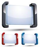 bandera del mensaje 3d Imagen de archivo libre de regalías