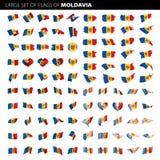 Bandera del Moldavia, ejemplo del vector Imagenes de archivo