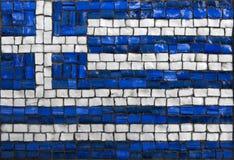 Bandera del mosaico de Grecia Fotos de archivo