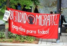 Bandera del movimiento del 99% Imagen de archivo