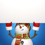 Bandera del muñeco de nieve Imágenes de archivo libres de regalías