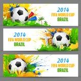 Bandera del mundial de la FIFA Fotografía de archivo libre de regalías