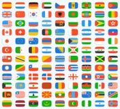Bandera del mundo Imagen de archivo libre de regalías