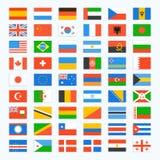 Bandera del mundo Fotografía de archivo libre de regalías