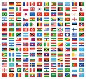 Bandera del mundo Imágenes de archivo libres de regalías