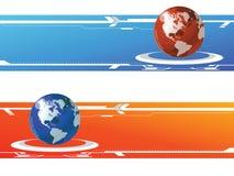 Bandera del mundo ilustración del vector