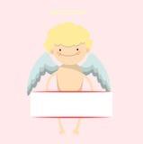 Bandera del niño pequeño del ángel Imagen de archivo libre de regalías