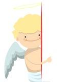 Bandera del niño pequeño del ángel Fotografía de archivo