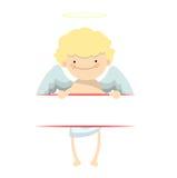 Bandera del niño pequeño del ángel Imagenes de archivo