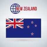 Bandera del nuevo zeland del país Vector el ejemplo aislado en fondo moderno con la sombra ilustración del vector