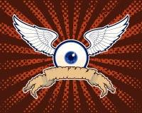 Bandera del ojo que vuela Fotos de archivo
