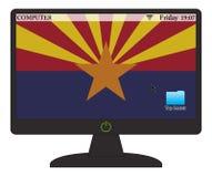 Bandera del ordenador de Arizona con en el botón libre illustration