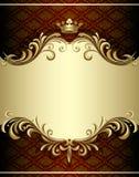 Bandera del oro Fotografía de archivo libre de regalías