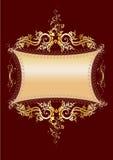 Bandera del oro Foto de archivo
