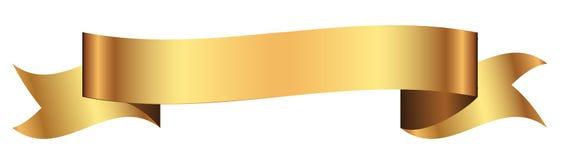 Bandera del oro para el diseño en vector Fotografía de archivo