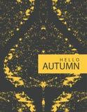 Bandera del otoño con la hoja brillante del álamo del otoño Foto de archivo libre de regalías