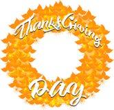 Bandera del otoño de las hojas por un día de la acción de gracias libre illustration