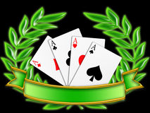 Bandera del póker (04) libre illustration