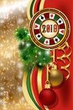 Bandera del póker de la Navidad Nuevo 2019 años Vector libre illustration