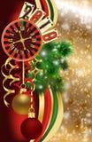 Bandera del póker de la Navidad Nuevo vector de 2019 años stock de ilustración