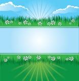 Bandera del paisaje del verano Imagenes de archivo