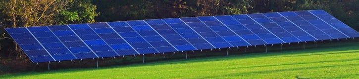 Bandera del panel solar Imágenes de archivo libres de regalías