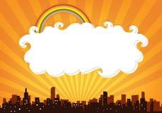 Bandera del panorama de la ciudad Imágenes de archivo libres de regalías