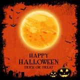 Bandera del papel pintado del partido de Halloween Fotos de archivo libres de regalías