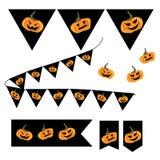 Bandera del partido de Halloween Fotografía de archivo