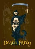 Bandera del partido de la muerte de Halloween ilustración del vector