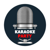Bandera del partido del Karaoke Foto de archivo libre de regalías