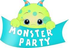 Bandera del partido del monstruo Foto de archivo libre de regalías