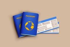 Bandera 04 del pasaporte libre illustration
