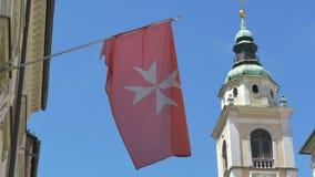 Bandera del pedido de Hospitaller de los caballeros metrajes