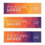 Bandera del polígono, fondo brillante, modelo Imágenes de archivo libres de regalías