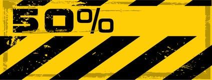 Bandera del por ciento del peligro del grunge del vector Fotos de archivo libres de regalías