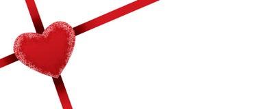 Bandera del presente del día de tarjetas del día de San Valentín