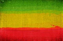 Bandera del rasta del Grunge Fotos de archivo