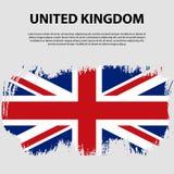 Bandera del Reino Unido de Gran Bretaña e Irlanda del Norte, fondo del movimiento del cepillo Indicador de Reino Unido Fotos de archivo