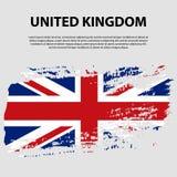 Bandera del Reino Unido de Gran Bretaña e Irlanda del Norte, fondo del movimiento del cepillo Indicador de Reino Unido Fotografía de archivo