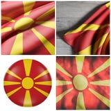 Bandera del República de Macedonia Fotos de archivo