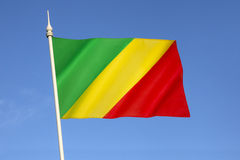 Bandera del República del Congo foto de archivo