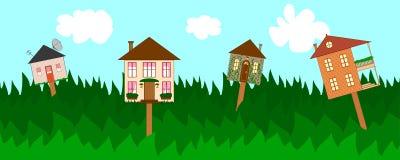 Bandera del resorte para las propiedades inmobiliarias del alquiler o de la venta Foto de archivo