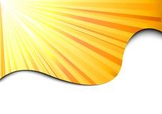 Bandera del resplandor solar - concepto del sol Ilustración del Vector